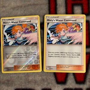 Pokémon Misty's water command reverse & holo set